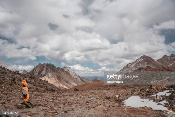 mt.nianbaoyuze landscape,sichuan province,china - altopiano foto e immagini stock