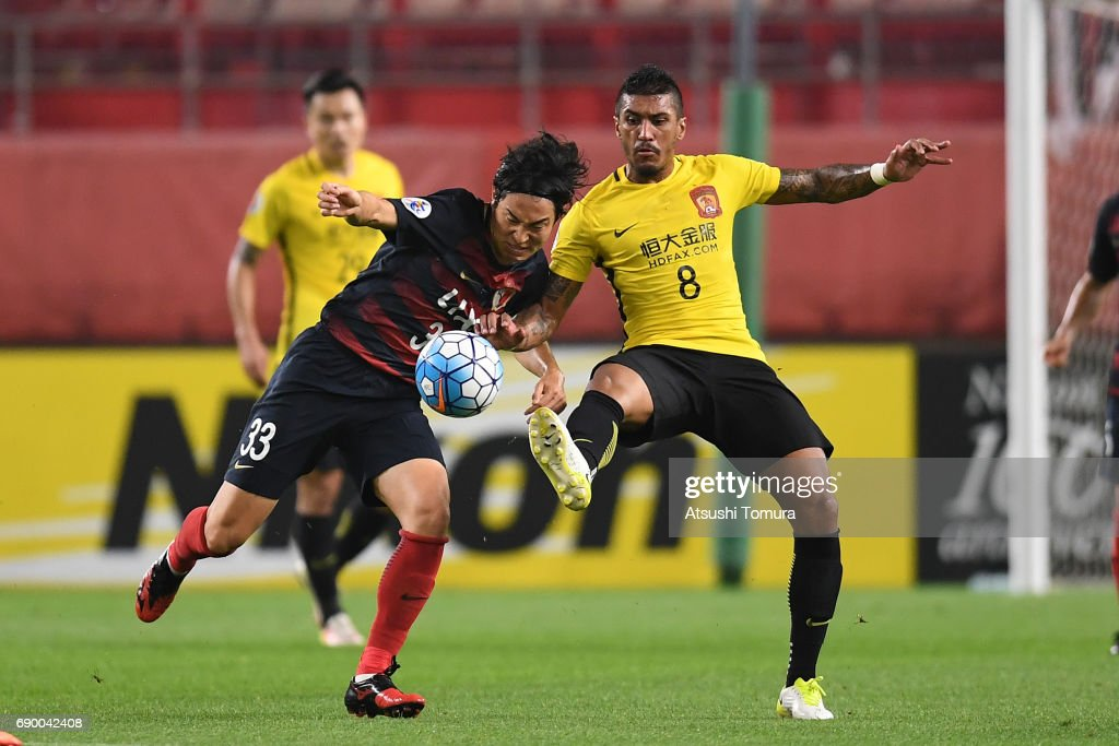 Kashima Antlers v Guangzhou Evergrande FC - AFC Champions League Round Of 16 : News Photo