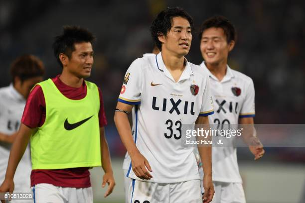 Mu Kanazaki of Kashima Antlers reacts after the 2-2 draw in the J.League J1 match between FC Tokyo and Kashima Antlers at Ajinomoto Stadium on July...