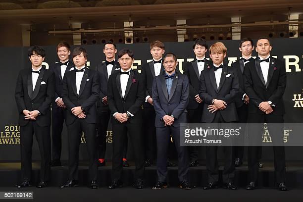 Mu Kanazaki of kashima Antlers, Yasuhito Endo of Gamba Osaka, Toshihiro Aoyama of Sanfrecce Hiroshima, Yoshito Okubo of Kawasaki Frontale, Takashi...