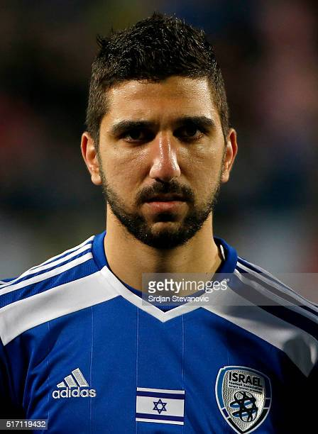 Muanes Dabbur of Israel looks on prior the International Friendly match between Croatia and Israel at stadium Gradski Vrt on March 23 2016 in Osijek...