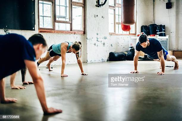 Muay Thai Boxing athletes warming up
