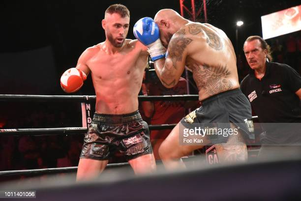 Muay Thai Kick Boxers World Champion 2018 Yohan Lidon and Yoan Kongolo fight during the Fight Night 2018 at the Citadelle of SaintTropez Party On...