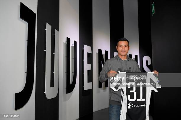 Muay Thai World Champion Sudsakorn Sor Klinmee before the Serie A match between Juventus and Genoa CFC at Allianz Stadium on January 22 2018 in Turin...
