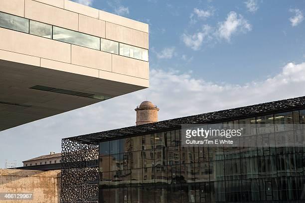MuCEM building,modern architecture,Marseille,France
