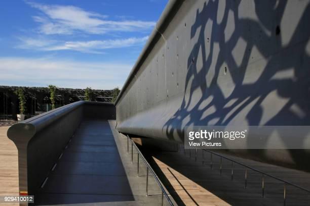 MuCEM Marseille France Architect Rudy Ricciotti 2013 Detail of walkway bridge