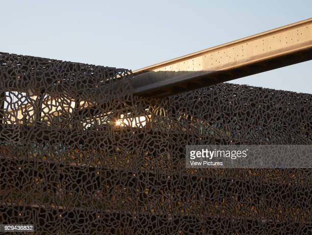 MuCEM Marseille France Architect Rudy Ricciotti 2013 Joint of walkway and concrete facade