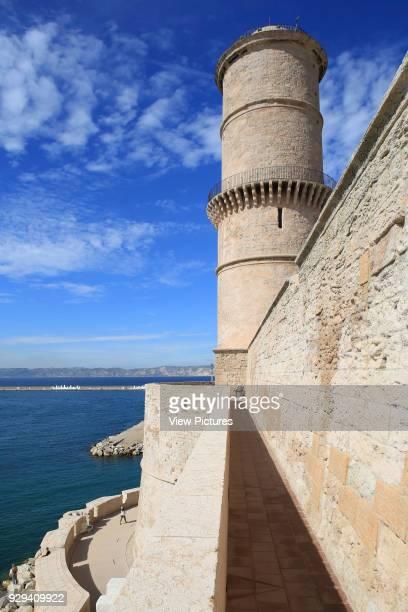 MuCEM Marseille France Architect Rudy Ricciotti 2013 Oblique elevation of Fort SaintJean