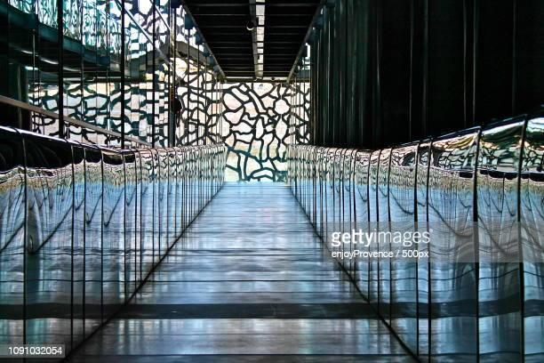 mucem - marseille - footbridge stock photos and pictures
