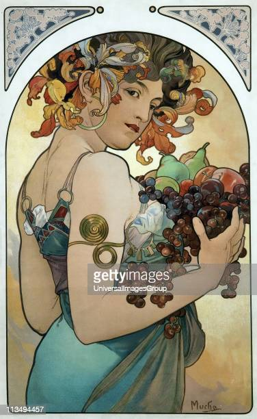 Mucha poster 1894 Alphonse Mucha Czech Art Nouveau painter and decorative artist known for his distinct style and his images of women He produced...