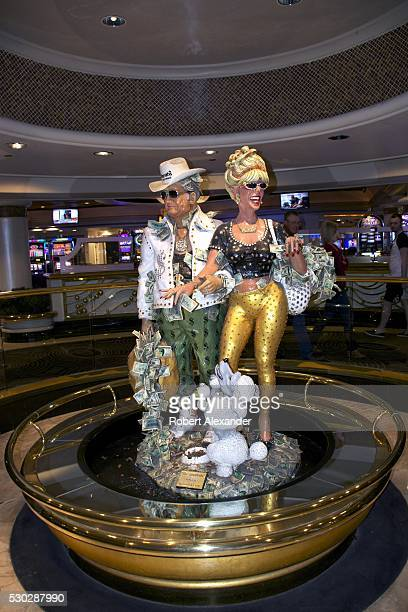 A muchphotograph sculpture titled 'The Greenbacks' in the casino at Harrah's on the Las Vegas Strip in Las Vegas Nevada on March 28 2016 The humorous...