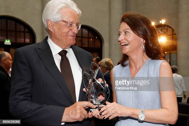 Muck Flick and his wife Corinne Flick attend the Montblanc De La Culture Arts Patronage Award 2017 at Humboldt Carre on June 13, 2017 in Berlin,...