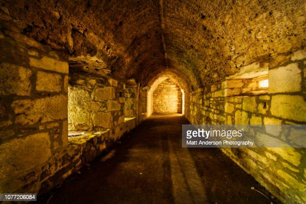 muckross abbey - dungeon stock photos and pictures
