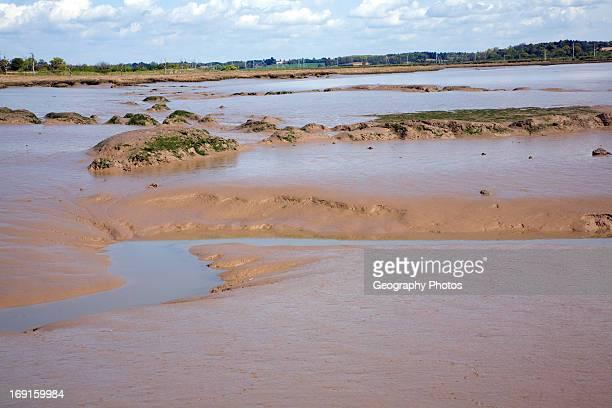 Mud flats and creeks low tide River Deben Hemley Suffolk
