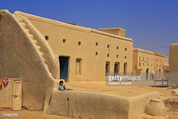 mud house - punjab pakistan stock photos and pictures