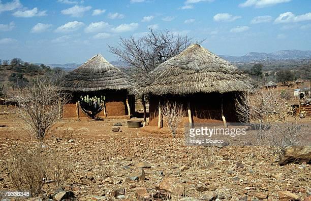 mud huts in zimbabwe - zimbabwe stock pictures, royalty-free photos & images