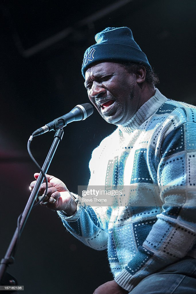 Mud Morganfield, the eldest son of legendary Blues musician Muddy Waters, performs exclusively at Flower Pot on November 29, 2012 in Derby, England.