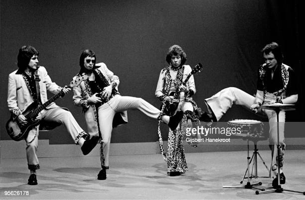 Mud perform live at Hilversum TV Studios Holland in 1974 LR Ray StilesLes Gray Rob Davis Dave Mount