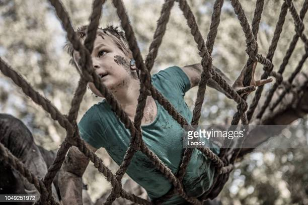 mud run child - military training stock pictures, royalty-free photos & images