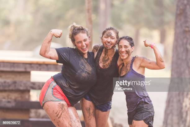 mud run fundraiser! - charity benefit stock pictures, royalty-free photos & images