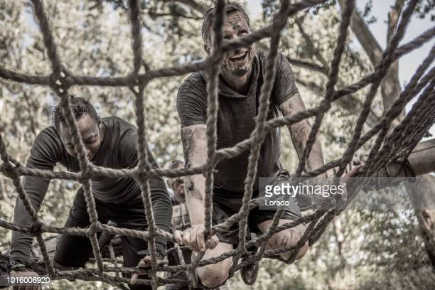 mud run obstacle course - military training stock pictures, royalty-free photos & images