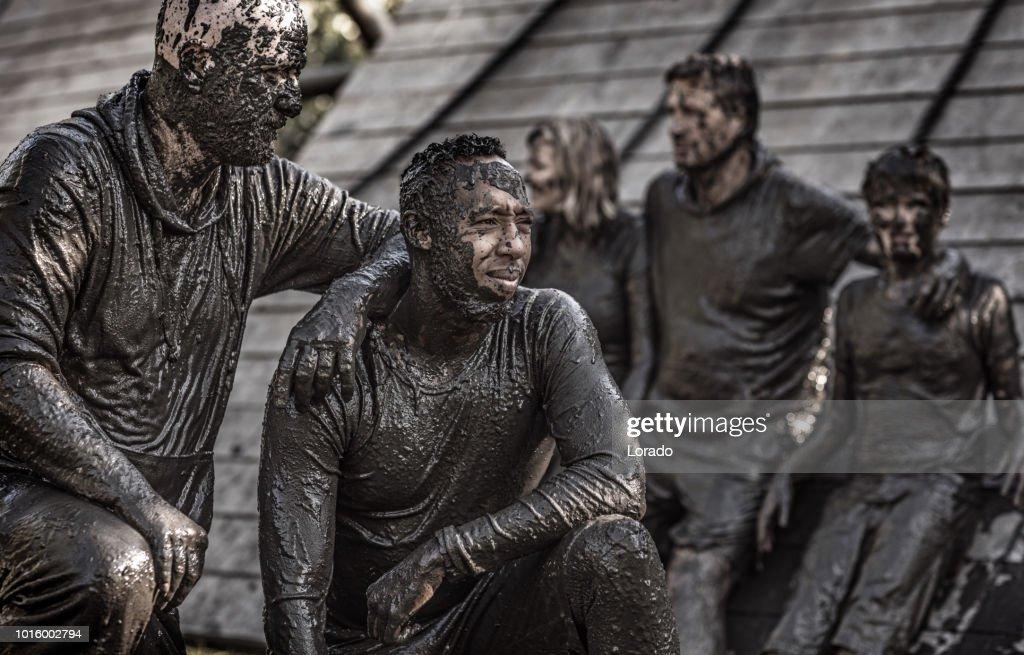 Mud Run Participant : Stock Photo