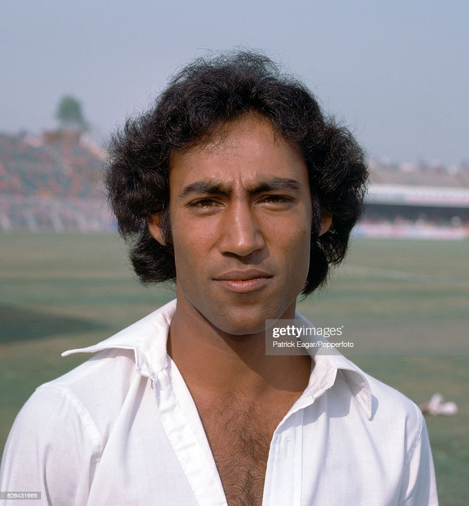 Mudassar Nazar of Pakistan during the 2nd Test match between Pakistan and India at the Gaddafi Stadium Lahore Pakistan 27th October 1978