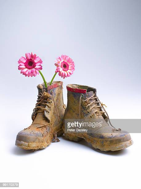 Muddie boots with flowers