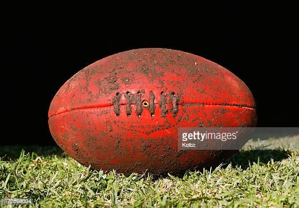 Muddy AFL Ball