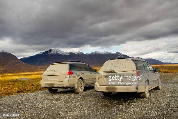 Muddy cars in Alaska