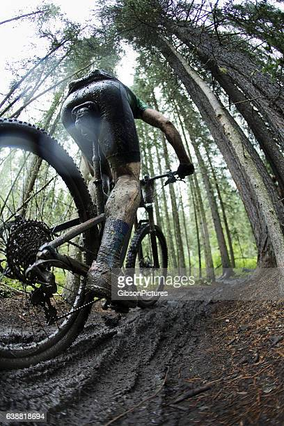 Muddy Mountain Bike Racer