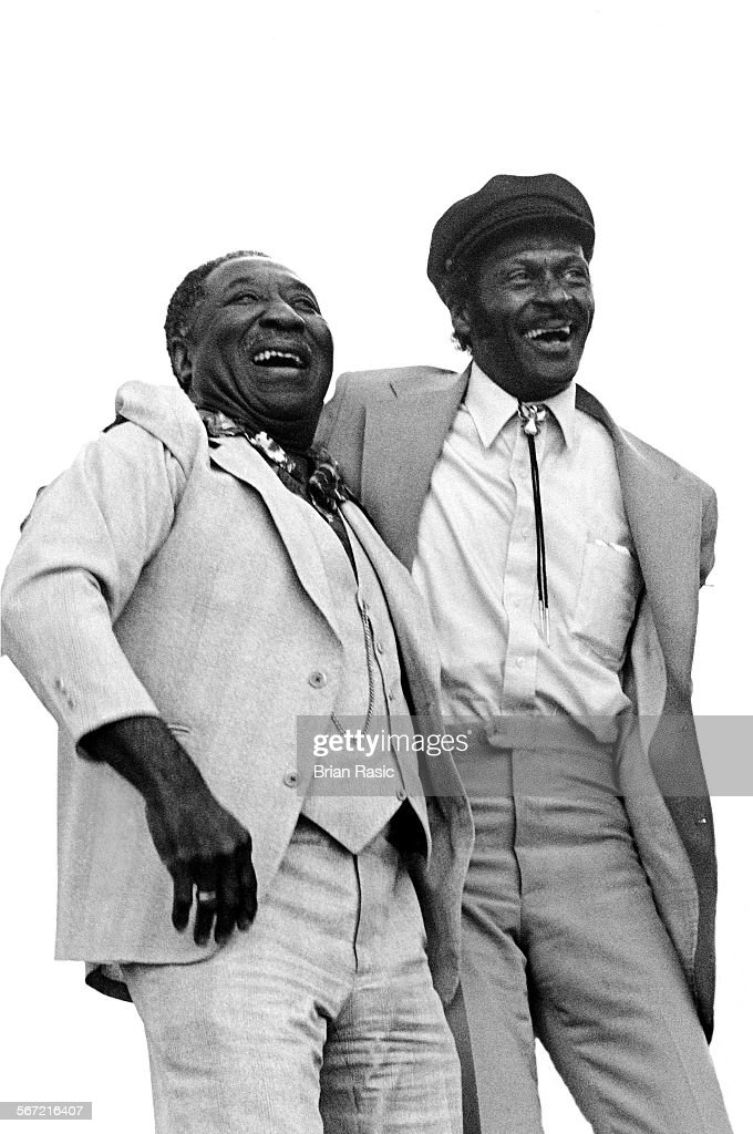 Muddy Waters And Chuck Berry, Capital Jazz Festival, Knebworth - 1981 : News Photo