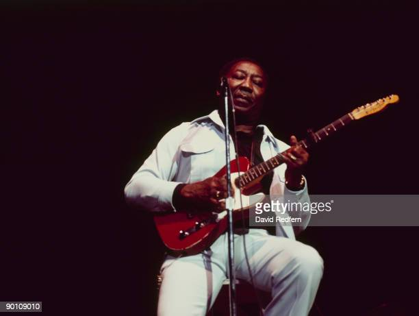 Muddy Waters performs on stage as part of the Newport Jazz Festival held at Carnegie Hall New York City in July 1976
