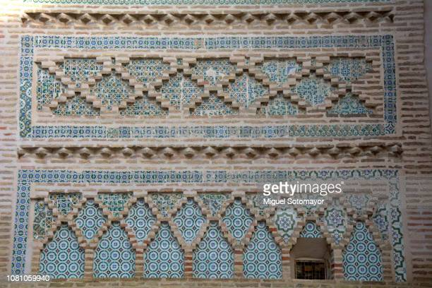 mudejar tower of utebo - zaragoza province stock pictures, royalty-free photos & images