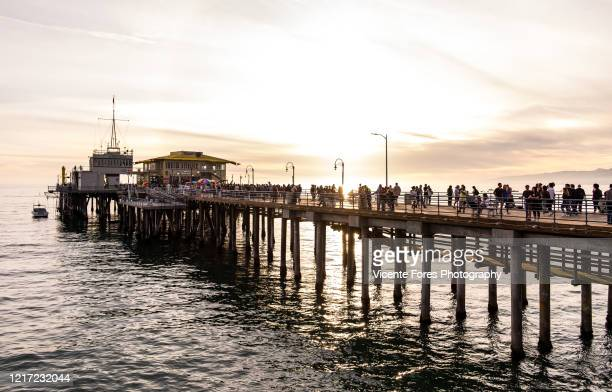 muelle de santa monica - forens stock pictures, royalty-free photos & images