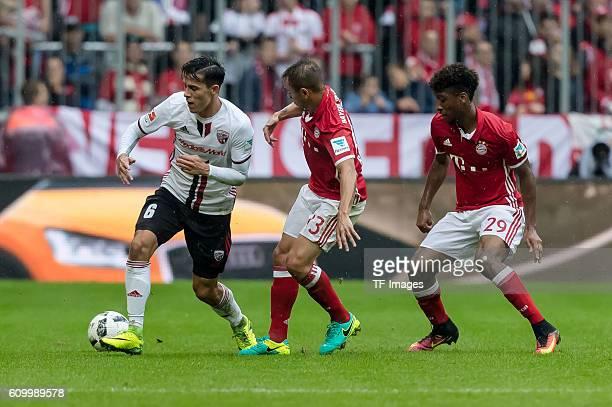 Muenchen Deutschland Bundesliga 3 Spieltag FC Bayern Muenchen FC Ingolstadt 04 Alfredo Morales gegen Rafinha Kingsley Coman