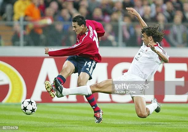 LEAGUE 02/03 Muenchen FC BAYERN MUENCHEN AC MAILAND 12 Claudio PIZARRO/BAYERN Paolo MALDINI/MAILAND