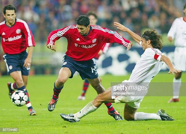 LEAGUE 02/03 Muenchen FC BAYERN MUENCHEN AC MAILAND 12 Hasan SALIHAMIDZIC Claudio PIZARRO/BAYERN Paolo MALDINI/MAILAND