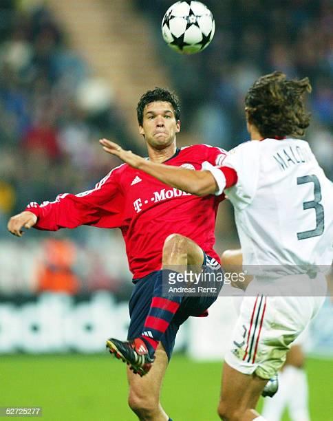LEAGUE 02/03 Muenchen FC BAYERN MUENCHEN AC MAILAND 12 Michael BALLACK/BAYERN Paolo MALDINI/MAILAND