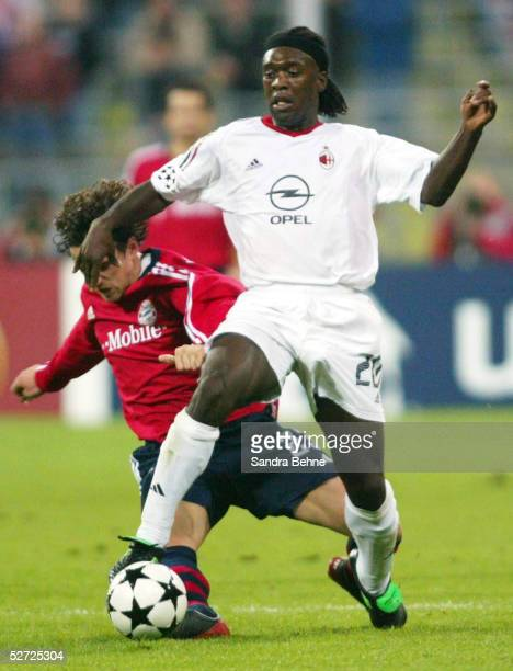 LEAGUE 02/03 Muenchen FC BAYERN MUENCHEN AC MAILAND 12 Owen HARGREAVES/BAYERN Clarence SEEDORF/MAILAND