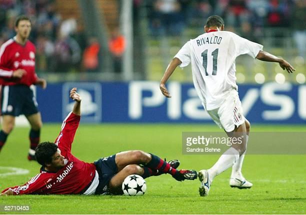 LEAGUE 02/03 Muenchen FC BAYERN MUENCHEN AC MAILAND Michael BALLACK/BAYERN RIVALDO/MAILAND