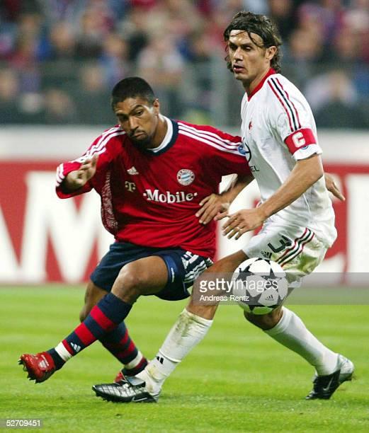 LEAGUE 02/03 Muenchen FC BAYERN MUENCHEN AC MAILAND RIVALDO/MAILAND Hasan SALIHAMIDZIC/BAYERN