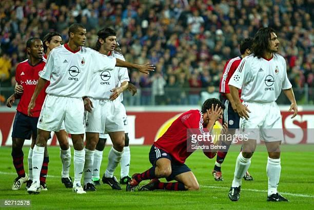 LEAGUE 02/03 Muenchen FC BAYERN MUENCHEN AC MAILAND RIVALDO/MAILAND Michael BALLACK/BAYERN