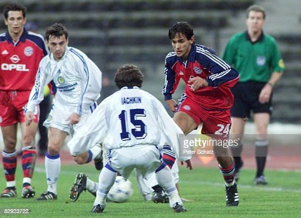 LEAGUE 99/00 Muenchen FC BAYERN MUENCHEN DYNAMO KIEW 21 Artem IACHKIN/Kiew Roque SANTA CRUZ/Muenchen
