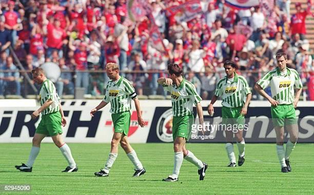 1 BUNDESLIGA 94/95 Muenchen FC BAYERN MUENCHEN SV WERDER BREMEN 31 ENTTAEUSCHUNG bei WERDER BREMEN