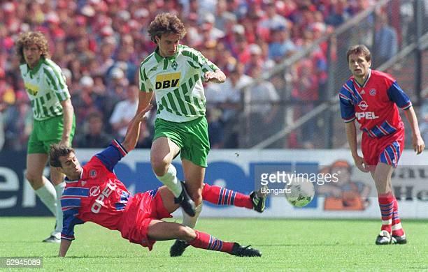 1 BUNDESLIGA 94/95 Muenchen FC BAYERN MUENCHEN SV WERDER BREMEN 31 Mehmet SCHOLL/BAYERN Marco BODE/BREMEN