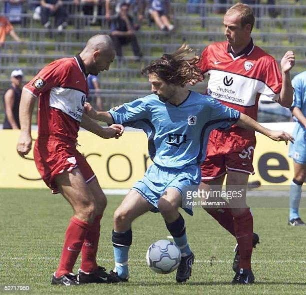 Muenchen TSV 1860 MUENCHEN 1 FC KAISERSLAUTERN Tomasz KLOS/KAISERSLAUTERN Erik MYKLAND/1860 Mario BASLER/KAISERSLAUTERN