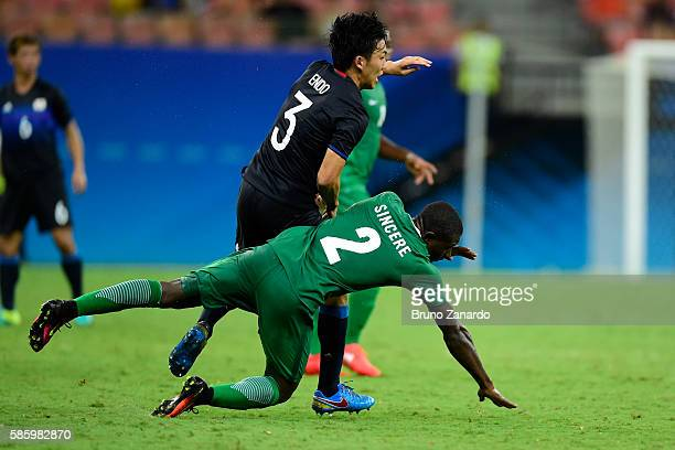 Muenfuh Sincere player Wataru Endo player of Japan during 2016 Summer Olympics match between Japan and Nigeria at Arena Amazonia on August 4 2016 in...