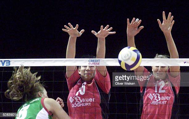 WM 2002 Muenster DEUTSCHLAND BULGARIEN Slavka OUZOUNOVADIMITROVA/BUL Judith SYLVESTER Olessya KULAKOVA/GER