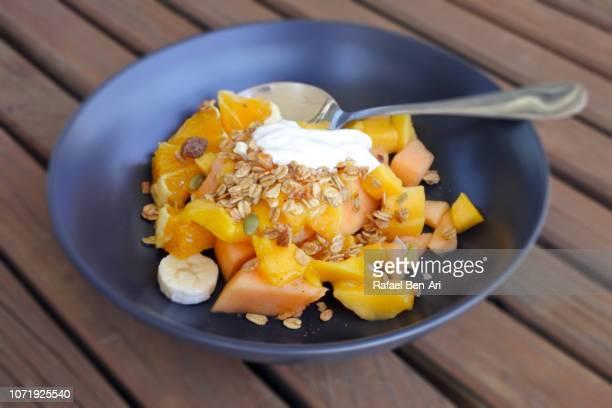 Muesli and Tropical Fruits Dish